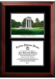 South Alabama Jaguars Diplomate and Campus Lithograph Picture Frame