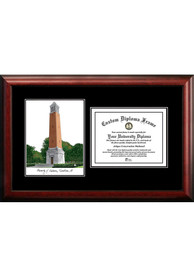 Alabama Crimson Tide Diplomate and Campus Lithograph Picture Frame