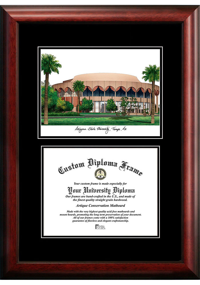 Arizona State Sun Devils Diplomate and Campus Lithograph Picture Frame - Image 1