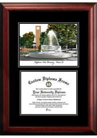 Fresno State Bulldogs Diplomate and Campus Lithograph Picture Frame