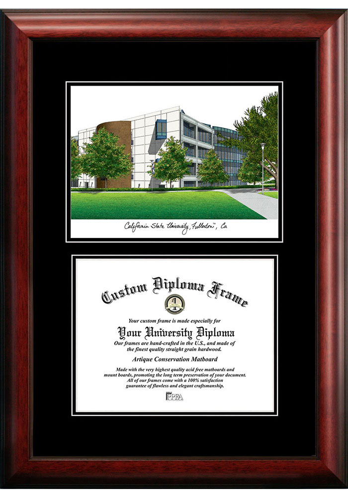 Cal State Fullerton Titans Diplomate and Campus Lithograph Picture Frame - Image 1
