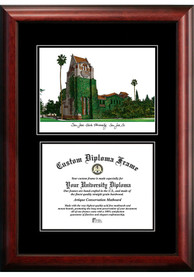San Jose State Spartans Diplomate and Campus Lithograph Picture Frame