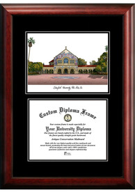 Stanford Cardinal Diplomate and Campus Lithograph Picture Frame