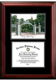 Cal Golden Bears Diplomate and Campus Lithograph Picture Frame