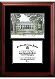 Colorado State Rams Diplomate and Campus Lithograph Picture Frame