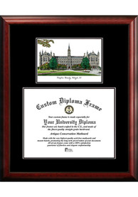 Georgetown Hoyas Diplomate and Campus Lithograph Picture Frame