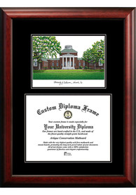 Delaware Fightin' Blue Hens Diplomate and Campus Lithograph Picture Frame