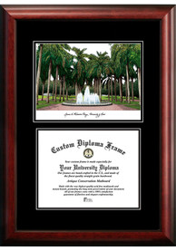 Miami Hurricanes Diplomate and Campus Lithograph Picture Frame
