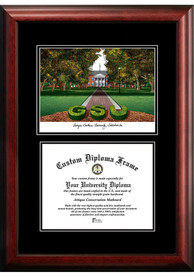 Georgia Southern Eagles Diplomate and Campus Lithograph Picture Frame
