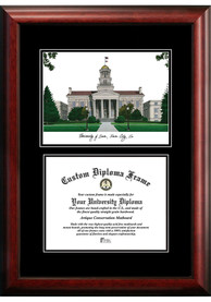 Iowa Hawkeyes Diplomate and Campus Lithograph Picture Frame