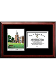Southern Illinois Salukis Diplomate and Campus Lithograph Picture Frame