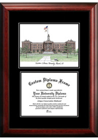 Western Illinois Leathernecks Diplomate and Campus Lithograph Picture Frame