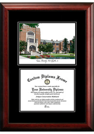 Purdue Boilermakers Diplomate and Campus Lithograph Picture Frame