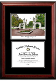 Indiana Hoosiers Diplomate and Campus Lithograph Picture Frame