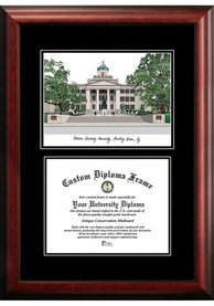 Western Kentucky Hilltoppers Diplomate and Campus Lithograph Picture Frame