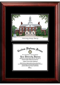 Eastern Kentucky Colonels Diplomate and Campus Lithograph Picture Frame