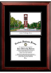 Louisiana Tech Bulldogs Diplomate and Campus Lithograph Picture Frame