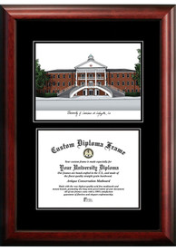 UL Lafayette Ragin' Cajuns Diplomate and Campus Lithograph Picture Frame