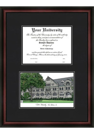 Tulane Green Wave Diplomate and Campus Lithograph Picture Frame