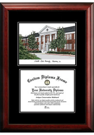Nicholls State Colonels Diplomate and Campus Lithograph Picture Frame