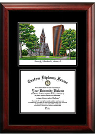 Massachusetts Minutemen Diplomate and Campus Lithograph Picture Frame