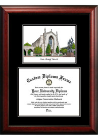 Boston Terriers Diplomate and Campus Lithograph Picture Frame