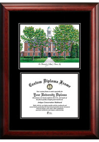 Maine Black Bears Diplomate and Campus Lithograph Picture Frame