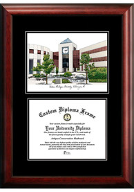 Western Michigan Broncos Diplomate and Campus Lithograph Picture Frame