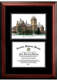 Wayne State Warriors Diplomate and Campus Lithograph Picture Frame