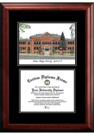 Eastern Michigan Eagles Diplomate and Campus Lithograph Picture Frame