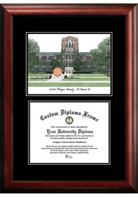 Central Michigan Chippewas Diplomate and Campus Lithograph Picture Frame