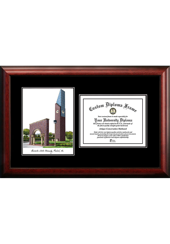 Minnesota State Mavericks Diplomate and Campus Lithograph Picture Frame - Image 1