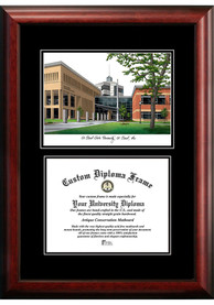 St Cloud State Huskies Diplomate and Campus Lithograph Picture Frame
