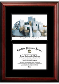 Minnesota Golden Gophers Diplomate and Campus Lithograph Picture Frame
