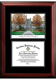 Central Missouri Mules Diplomate and Campus Lithograph Picture Frame