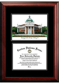 Southern Mississippi Golden Eagles Diplomate and Campus Lithograph Picture Frame