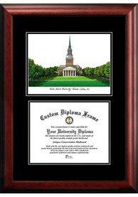 Wake Forest Demon Deacons Diplomate and Campus Lithograph Picture Frame