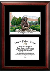 UNCC 49ers Diplomate and Campus Lithograph Picture Frame