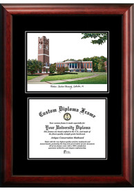 Western Carolina Diplomate and Campus Lithograph Picture Frame