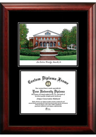 East Carolina Pirates Diplomate and Campus Lithograph Picture Frame