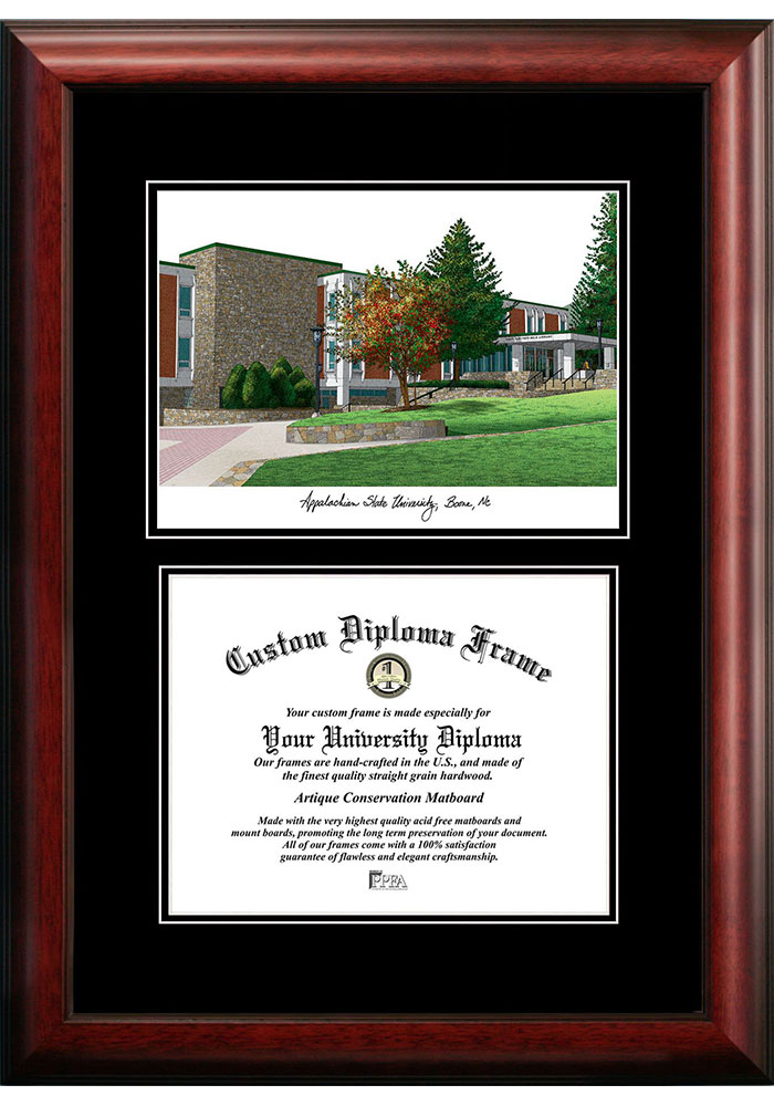 Appalachian State Mountaineers Diplomate and Campus Lithograph Picture Frame - Image 1