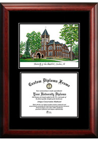 New Hampshire Wildcats Diplomate and Campus Lithograph Picture Frame