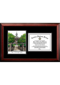 Rutgers Scarlet Knights Diplomate and Campus Lithograph Picture Frame