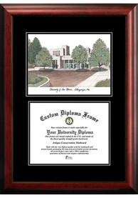 New Mexico Lobos Diplomate and Campus Lithograph Picture Frame