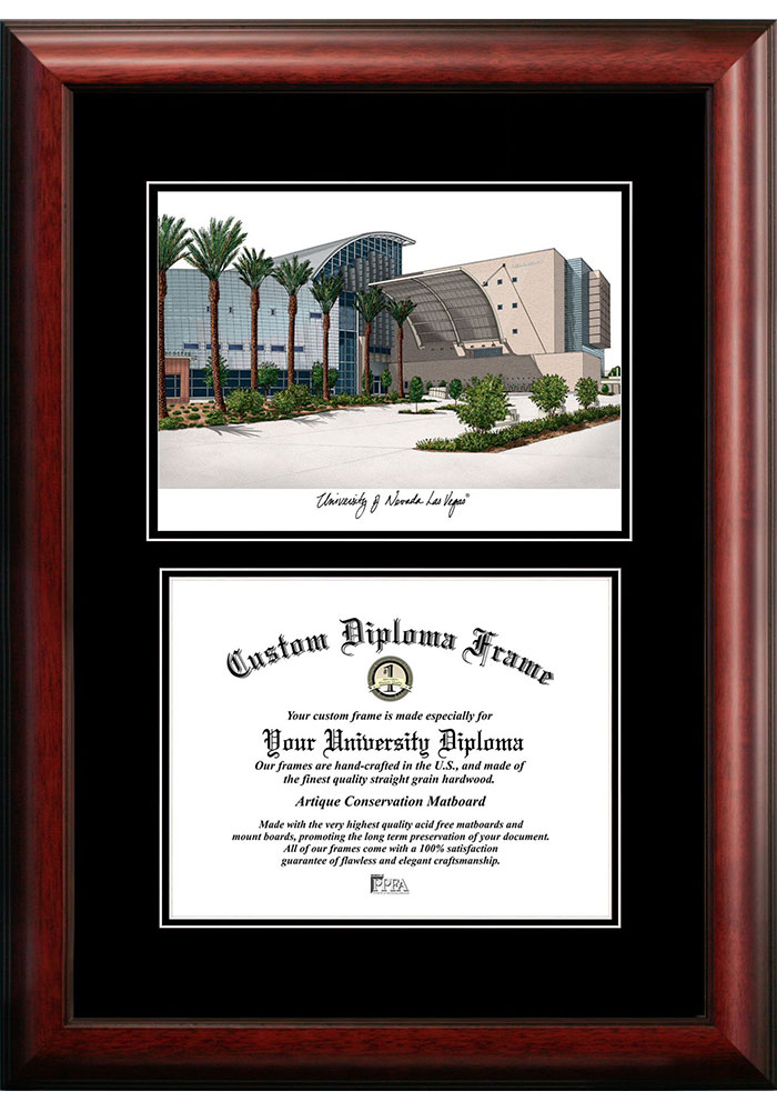 UNLV Runnin Rebels Diplomate and Campus Lithograph Picture Frame - Image 1