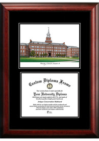 Cincinnati Bearcats Diplomate and Campus Lithograph Picture Frame