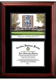 Bowling Green Falcons Diplomate and Campus Lithograph Picture Frame