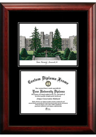 Xavier Musketeers Diplomate and Campus Lithograph Picture Frame