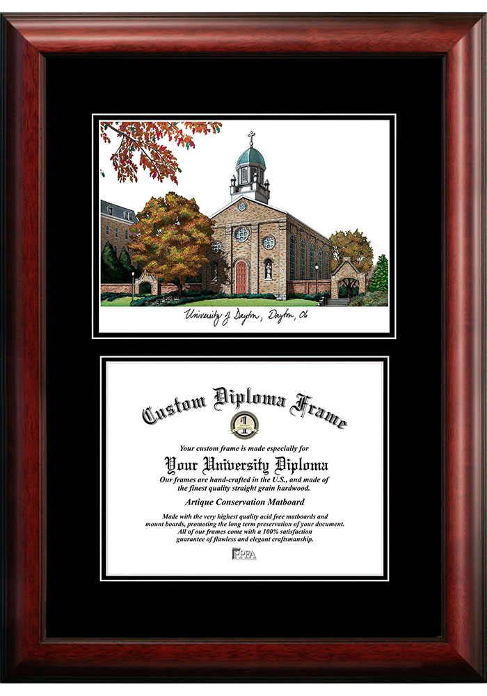 Dayton Flyers Diplomate and Campus Lithograph Picture Frame - Image 1