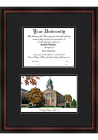 Dayton Flyers Diplomate and Campus Lithograph Picture Frame